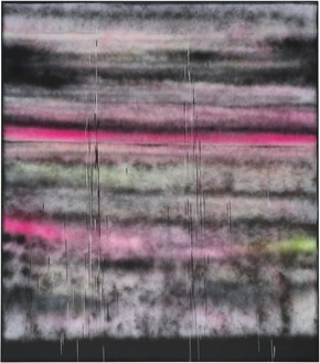 Sterling Ruby, SP295, 2014 Spray paint on synthetic canvas, 96 × 84 inches (243.8 × 213.4 cm)Photo by Robert Wedemeyer