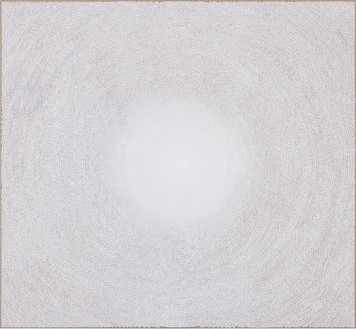 Y. Z. Kami, White Dome V, 2010–11 Acrylic on linen, 112 × 121 inches (284.5 × 307.3 cm)