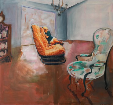 """Albert Oehlen: """"Home & Garden"""" Annex, Park & 75, New York"""