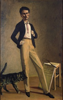 Balthus, Le Roi des chats, 1935 Oil on canvas, 30 11/16 × 19 ½ inches (78 × 49.5 cm)