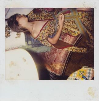 Balthus, Untitled, c. 1999–2000 Color Polaroid, 4 × 4 inches (10.2 × 10.2 cm)© Harumi Klossowska de Rola