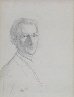 Balthus, Autoportrait, 1943 Pencil and charcoal, 24 13/16 × 18 inches (63 × 45.7 cm)