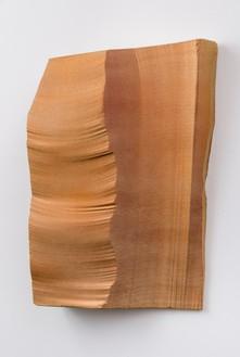 Piero Golia, Intermission painting #4 red to gold, 2014 EPS foam, hard coat, and pigment, 48 × 38 × 8 ½ inches (121.9 × 96.5 × 21.6 cm)© Piero Golia. Photo: Josh White