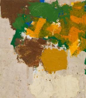 Joe Bradley, Club Foot, 2015 Oil on canvas, 76 ⅛ × 67 ⅛ inches (193.4 × 170.5 cm)© Joe Bradley. Photo: Rob McKeever