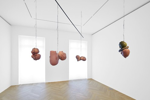 Bruce Nauman, Four Pairs of Heads (Wax), 1991 Wax, wire, rebar, 74 × 102 × 99 inches (188 × 259.1 × 251.5 cm)© Bruce Nauman/Artists Rights Society (ARS), New York