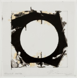 Steven Parrino, Spinout Vortex, 2000 Vellum in matt board, 13 ¾ × 13 ½ inches (34.9 × 34.3 cm)