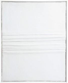 Piero Manzoni, Achrome, 1958 Kaolin and creased canvas, 21 ⅝ × 17 ¾ inches (55 × 45 cm)
