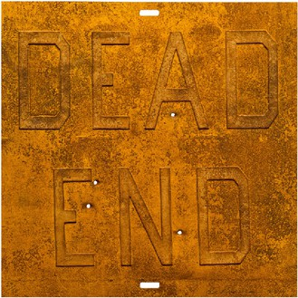Ed Ruscha, Rusty Signs—Dead End 2, 2014 Mixografia® print on handmade paper, 24 × 24 inches (61 × 61 cm), edition of 50© Ed Ruscha