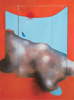 Francis Bacon, Sand Dune, 1983 Oil and pastel on canvas, 78 × 58 inches (198 × 147.5 cm). Fondation Beyeler, Riehen/Basel, Beyeler Collection© The Estate of Francis Bacon. All rights reserved. / DACS, London / ARS, NY 2015, photo by Peter Schibli, reproduction, including downloading of—works is prohibited by copyright laws and international conventions without the express written permission of Artists Rights Society (ARS), New York