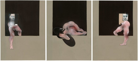 Francis Bacon, Triptych, 1991 Oil on canvas, Each panel: 78 × 58 ⅛ inches (198.1 × 147.6 cm). The Museum of Modern Art, New York. William A. M. Burden Fund and Nelson A. Rockefeller Bequest Fund (both by exchange), 2003© The Estate of Francis Bacon. All rights reserved. / DACS, London / ARS, NY 2015, photo by Thomas Griesel, reproduction, including downloading of—works is prohibited by copyright laws and international conventions without the express written permission of Artists Rights Society (ARS), New York