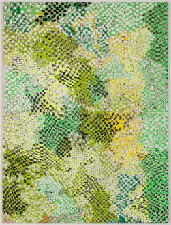 Harmony Korine, Fex Chex, 2014 House paint, acrylic, oil, and collage on canvas, 124 × 93 inches (315 × 236.2 cm)Photo by Josh White