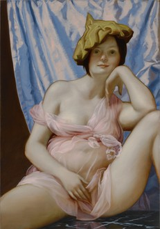 John Currin, Altar, 2015 Oil on canvas, 40 × 28 × 1 ¼ inches (101.6 × 71.1 × 3.2 cm)Photo: Douglas M. Parker Studio
