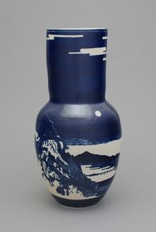 Shio Kusaka, (landscape 1), 2014 Stoneware, 28 × 14 ¼ × 14 ¼ inches (71.1 × 36.2 × 36.2 cm)