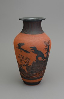 Shio Kusaka, (dinosaur 22), 2014 Stoneware, 22 ¼ × 12 ¼ × 12 ¼ inches (56.5 × 31.1 × 31.1 cm)