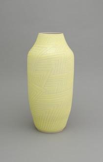 Shio Kusaka, (carved 56), 2014 Stoneware, 25 ¾ × 12 × 12 inches (65.4 × 30.5 × 30.5 cm)