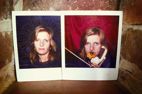 Linda and Mary McCartney, In Poloroids, Sussex, 2011 C-type print© Mary McCartney