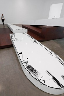 Michael Heizer, Altar 2, 2015 Weathering steel coated with polyurethane, 7 feet 3 ½ inches × 40 feet × 43 feet 4 inches (2.27 × 12.19 × 13.21 m)Photo: Rob McKeever