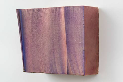 Piero Golia, Intermission painting #21 red to purple, 2014 (view 1) EPS foam, hard coat and pigment, 24 × 28 × 14 ¼ inches (61 × 71.1 × 36.2 cm)Photo by Josh White