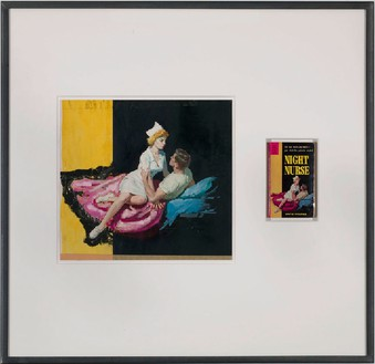 Richard Prince, Untitled (original), 2010 Original illustration and paperback book, 34 × 35 inches (86.4 × 88.9 cm)Photo by Rob McKeever
