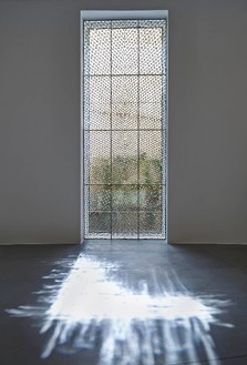 Richard Wright, No title, 2015 Leaded glass, 181 ⅛ × 68 ½ inches (460 × 174 cm)Photo by Matteo D'Eletto M3 Studio