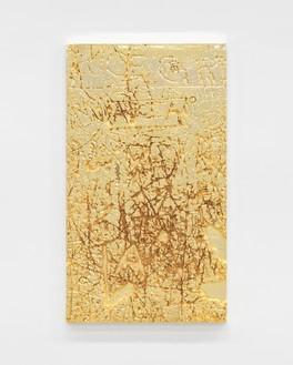 Rudolf Stingel, Untitled, 2012 Electroformed copper, plated nickel, and gold, 47 ¼ × 27 ⅛ inches (120 × 68.9 cm)© Rudolf Stingel. Photo: Alessandro Zambianchi