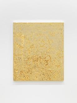 Rudolf Stingel, Untitled, 2012 Electroformed copper, plated nickel, and gold, 47 ¼ × 41 ¼ inches (120 × 104.8 cm)© Rudolf Stingel. Photo: Alessandro Zambianchi