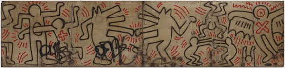 Keith Haring, Untitled (FDR NY) #25 & #26, 1984 Spray enamel paint on metal, 40 × 204 inches (101.6 × 518.2 cm)Photo: Mike Bruce