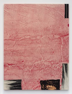 Sterling Ruby, RED STATE, 2015 Acrylic, elastic, and treated fabric on canvas, 126 × 96 inches (320 × 243.8 cm)© Sterling Ruby, photo by Robert Wedemeyer