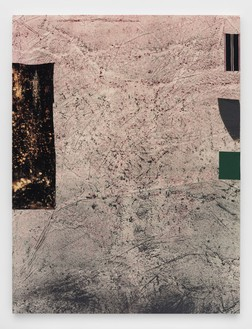 Sterling Ruby, JALALABAD, 2015 Acrylic, elastic, treated fabric, and cardboard on canvas, 126 × 96 inches (320 × 243.8 cm)© Sterling Ruby, photo by Robert Wedemeyer