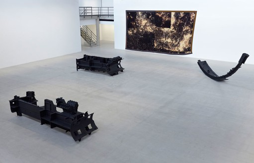 Installation view at Gagosian Gallery Le Bourget, Paris Artwork © Sterling Ruby, photo by Thomas Lannes