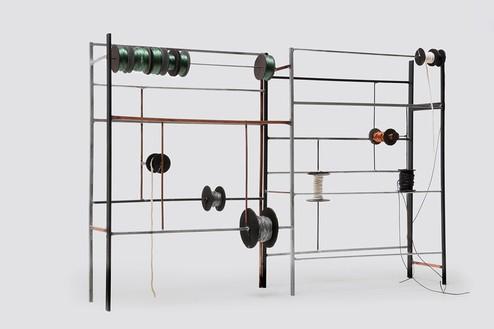 Tatiana Trouvé, Desire Lines, 2012 Metal, copper, cardboard, plastic, and rope, 18 ⅛ × 24 3/16 × 5 ⅞ inches (41 × 61.5 × 15 cm)© Tatiana Trouvé, photo by Laurent Edeline