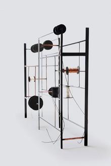 Tatiana Trouvé, Desire Lines, 2012 Metal, copper, cardboard, plastic, and rope, 16 ⅛ × 24 3/16 × 5 ⅞ inches (41 × 61.5 × 15 cm)© Tatiana Trouvé, photo by Laurent Edeline