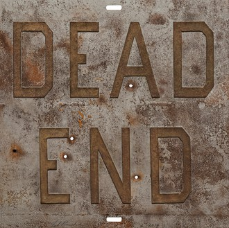 Ed Ruscha, Rusty Signs—Dead End 1, 2014 Mixografia® print on handmade paper, 24 × 24 inches (61 × 61 cm), edition of 50© Ed Ruscha
