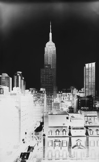 Vera Lutter, Empire State Building, II: November 28, 2014, 2014 Unique gelatin silver print, 91 × 56 inches (231.1 × 142.2 cm)
