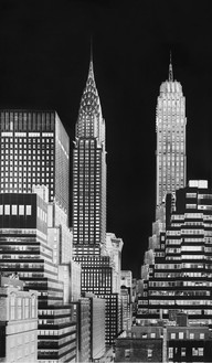 Vera Lutter, Chrysler Building, V: July 12,2014, 2014 Unique gelatin silver print, 95 ¼ × 56 inches (241.9 × 142.2 cm)