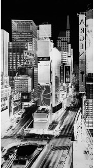 Vera Lutter, Times Square, New York, V: July 31, 2007, 2007 Unique gelatin silver print, 101 × 56 inches (256.5 × 142.2 cm)