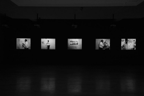 William Kentridge, 7 Fragments for Georges Méliès, 2003 (view 1) 7 video projections: film and video transferred to thumb drives, Dimensions variableCourtesy the artist and Marian Goodman Gallery, New York, photo by Rob McKeever