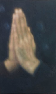 Y. Z. Kami, Daya's Hands, 2014 Oil on linen, 90 × 54 inches (228.6 × 137.2 cm)Photo by Rob McKeever