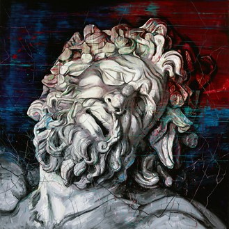 Zeng Fanzhi, Laocoon, 2015 Oil on canvas, 2 panels, overall: 157 ½ × 157 ½ inches (400 × 400 cm)© Zeng Fanzhi Studio