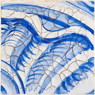 Adriana Varejão, Azulejão (Shell), 2016 Oil and plaster on canvas, 70 ⅞ × 70 ⅞ inches (180 × 180 cm)© Adriana Varejão, photo by Vicente de Mello