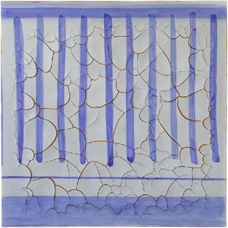 Adriana Varejão, Azulejão (Doric), 2016 Oil and plaster on canvas, 70 ⅞ × 70 ⅞ inches (180 × 180 cm)© Adriana Varejão, photo by Vicente de Mello