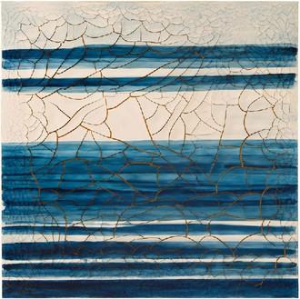 Adriana Varejão, Azulejão (Horizon), 2016 Oil and plaster on canvas, 70 ⅞ × 70 ⅞ inches (180 × 180 cm)© Adriana Varejão, photo by Vicente de Mello
