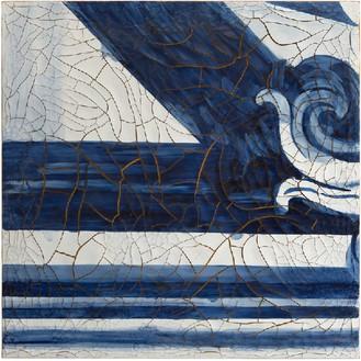 Adriana Varejão, Azulejão (Diagonal), 2016 Oil and plaster on canvas, 70 ⅞ × 70 ⅞ inches (180 × 180 cm)© Adriana Varejão, photo by Vicente de Mello