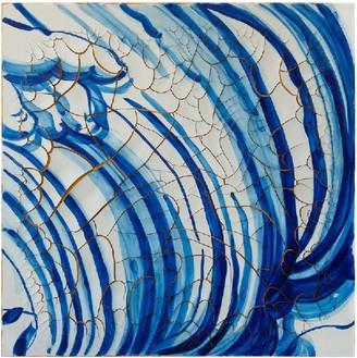 Adriana Varejão, Azulejão (Hand and Curves), 2016 Oil and plaster on canvas, 70 ⅞ × 70 ⅞ inches (180 × 180 cm)© Adriana Varejão, photo by Vicente de Mello