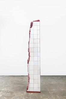 Adriana Varejão, Rome Meat Ruin, 2016 (view 3) Oil on aluminum and polyurethane, 100 13/16 × 18 ⅛ × 10 ¼ inches (256 × 46 × 26 cm)© Adriana Varejão, photo by Vicente de Mello