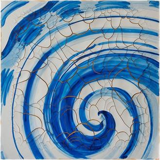Adriana Varejão, Azulejão (voluta) [Azulejão (volute)], 2016 Oil and plaster on canvas, 70 ⅞ × 70 ⅞ inches (180 × 180 cm)© Adriana Varejão, photo by Vicente de Mello