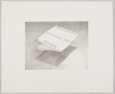 Ed Ruscha, Some Los Angeles Apartments, 1970 Lithograph on white Arches paper, 16 × 20 inches (40.6 × 50.8 cm), edition of 30© Ed Ruscha