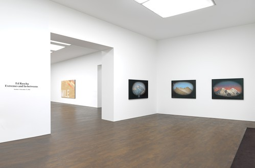 Installation view Artwork © Ed Ruscha. Photo: Mike Bruce