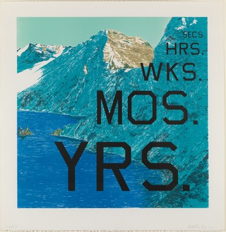 Ed Ruscha Periods, 2013 Lithograph, 28 ¾ × 28 inches (73 × 71.1 cm), color trial proof 7© Ed Ruscha