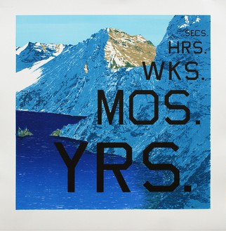 Ed Ruscha, Periods, 2013 Lithograph, 28 ¾ × 28 inches (73 × 71.1 cm), edition of 60© Ed Ruscha